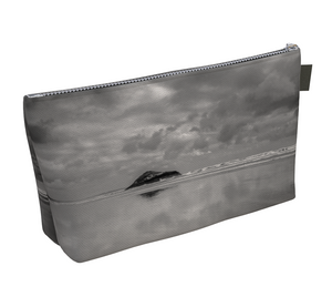 Long Beach Tofino Makeup Bags featuring printed artwork by Roxy Hurtubise available in 2 sizes on VanIsleGoddess.Com