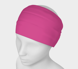 Enchanted Sea Anemone Pink Solid Colour Headband  Art meets the most versatile of fashion accessories. The headband.    You can wear it in so many different ways: a pony tail holder, hood, face mask, hat liner, wrist band, sun protector.   So easy to wear. Perfect for working out, staying warm, hiking, or as a pop of colour to add to any look.  Compact enough to fit in your pocket, purse, or back pack.  Makes a great gift idea too! By VanIsleGoddess.Com