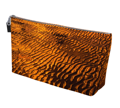 Golden Sand Makeup Bag by Vanislegoddess.com available in two sizes.