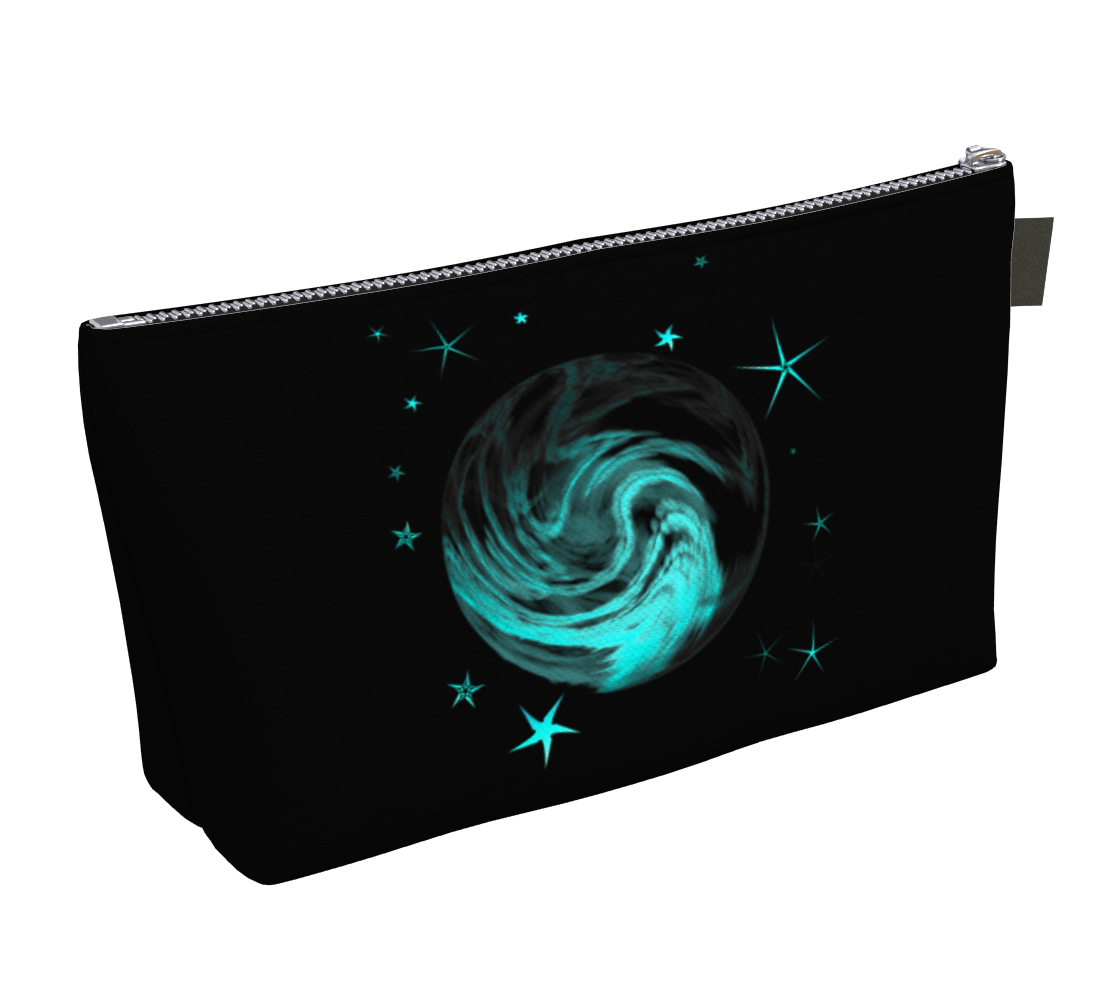 Universe Makeup Bag by Vanislegoddess.com available in 2 sizes.