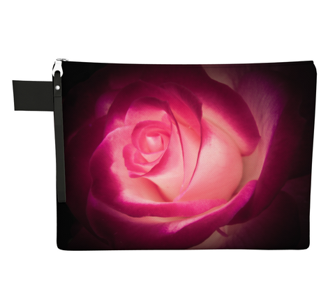 Illuminated Rose Zipper Carry All by Vanislegoddess.com available in 4 sizes.