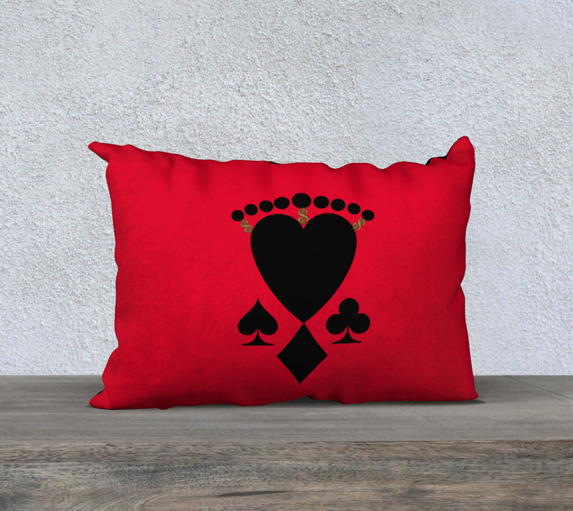 "Queen of the Club Las Vegas 20"" x 14"" Pillow Case"