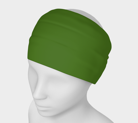 Canopy of Leaves Green Solid Colour Headband  Art meets the most versatile of fashion accessories. The headband.    You can wear it in so many different ways: a pony tail holder, hood, face mask, hat liner, wrist band, sun protector.   So easy to wear. Perfect for working out, staying warm, hiking, or as a pop of colour to add to any look.  Compact enough to fit in your pocket, purse, or back pack.  Makes a great gift idea too! By VanIsleGoddess.Com