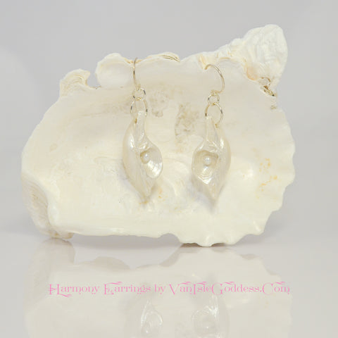 Harmony Island Goddess Seashell Earrings