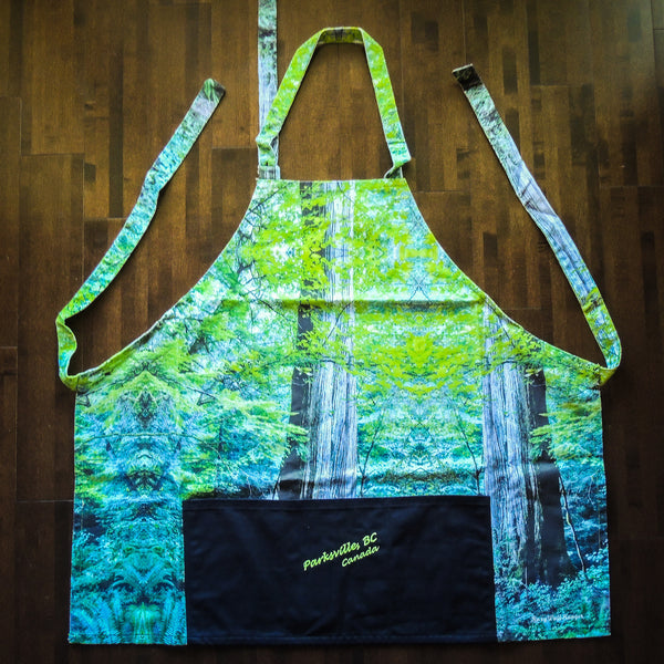 Limited Edition Old Growth Forest BBQ Apron VanIsleGoddess.Com