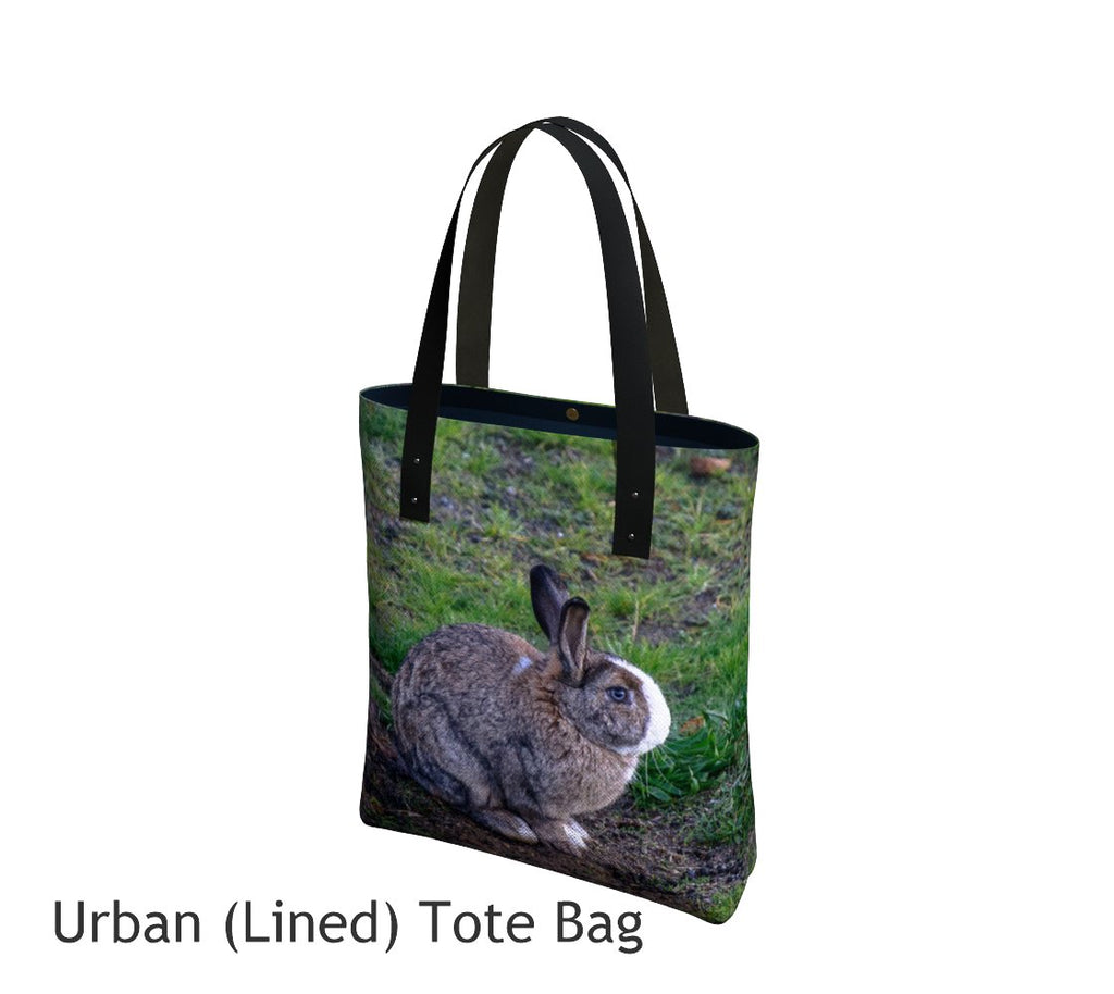Love Bunny Tote Bag Basic and Urban Tote Bags featuring printed artwork by Roxy Hurtubise.