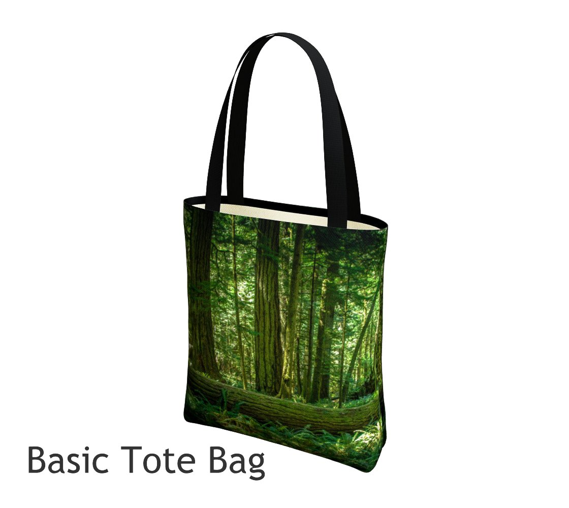 Basic and Urban Tote Bags featuring printed artwork by Roxy Hurtubise.