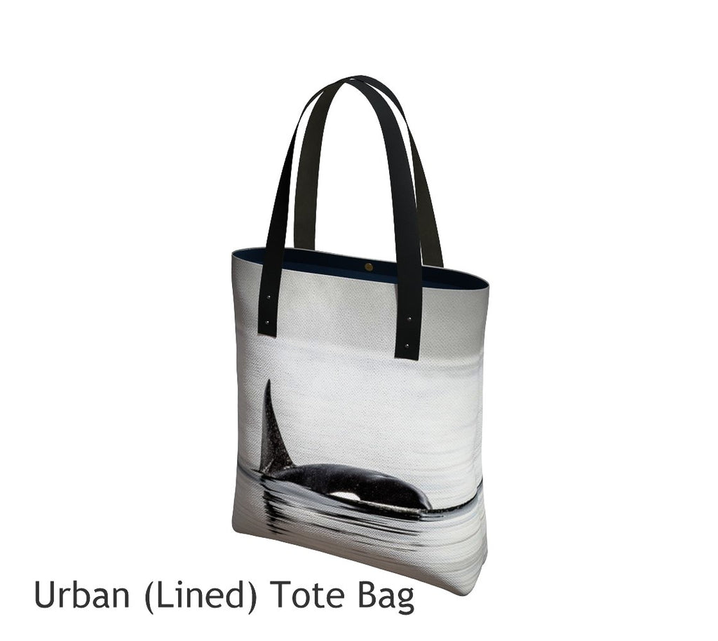 Orca Tote Bag Basic and Urban Tote Bags featuring printed artwork by Roxy Hurtubise.
