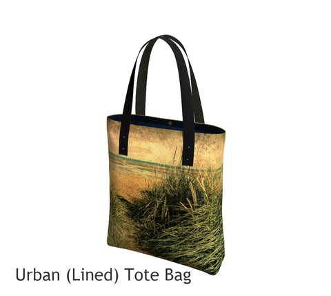 Vintage Beach Tote Bag Basic and Urban Tote Bags featuring printed artwork by Roxy Hurtubise.