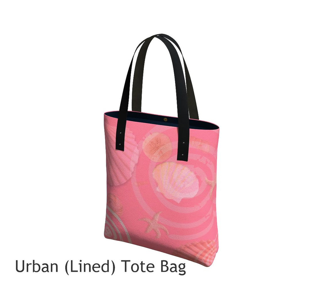 Island Goddess Rose Basic and Urban Tote Bags featuring printed artwork by Roxy Hurtubise.