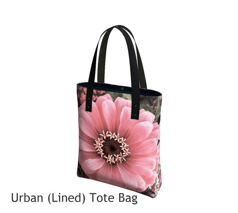 Floral Delight Basic and Urban Tote Bags featuring printed artwork by Roxy Hurtubise.