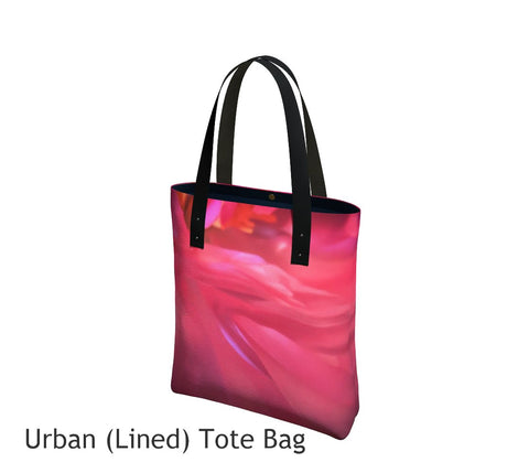 Soft Rose Tote Bag Basic and Urban Tote Bags featuring printed artwork by Roxy Hurtubise.