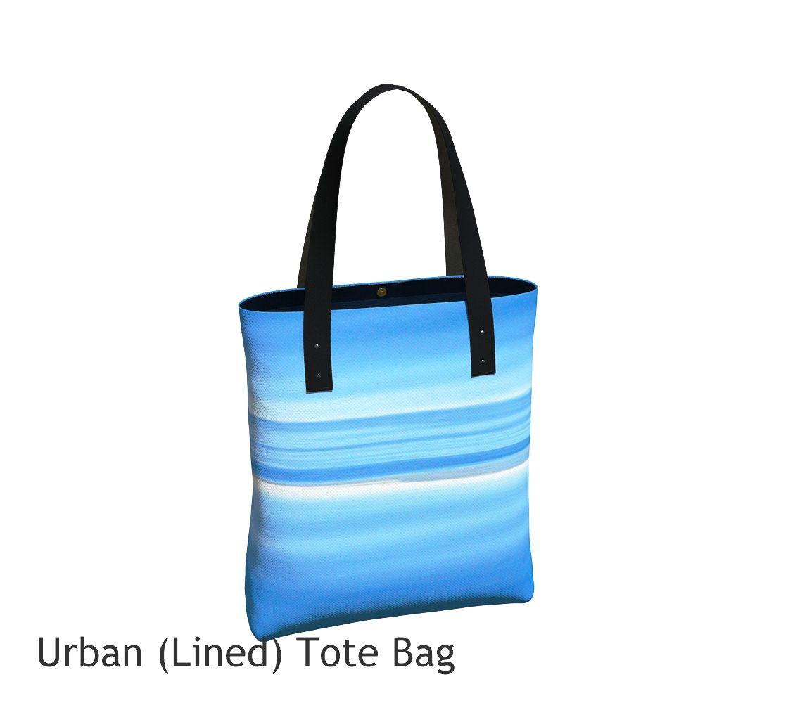 Ocean Blue Tote Bag Basic and Urban Tote Bags featuring printed artwork by Roxy Hurtubise.