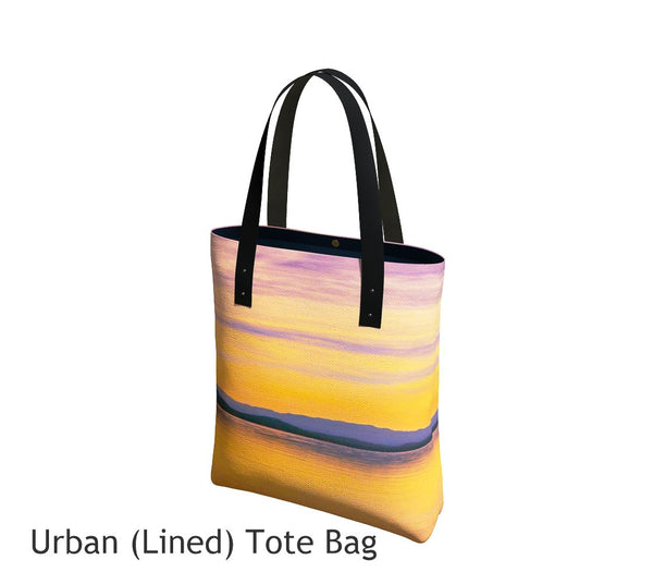 Magic Morning Tote Bag Basic and Urban Tote Bags featuring printed artwork by Roxy Hurtubise.