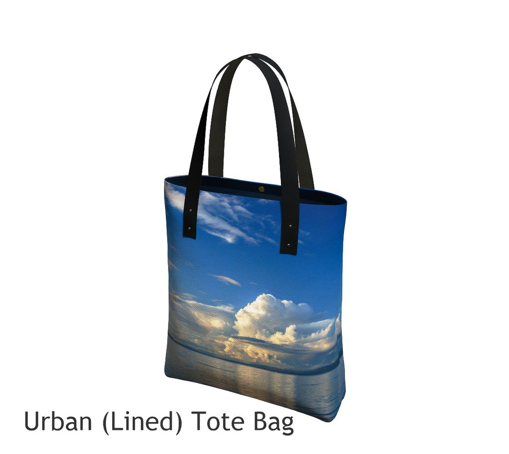 Qualicum Beach Tote Bag Basic and Urban Tote Bags featuring printed artwork by Roxy Hurtubise.