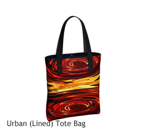 Swirling Abundance Tote Bag Basic and Urban Tote Bags featuring printed artwork by Roxy Hurtubise.