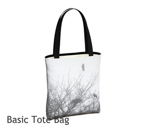 Protected Tote Bag Basic and Urban Tote Bags featuring printed artwork by Roxy Hurtubise.