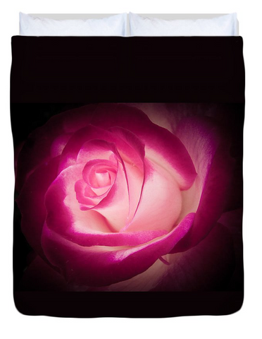 Illuminated Rose Duvet Cover