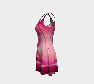 Illuminated Rose Flare Dress Leftside