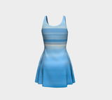 Ocean Blue Flare Dress Back