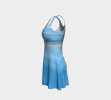 Ocean Blue Flare Dress Leftside