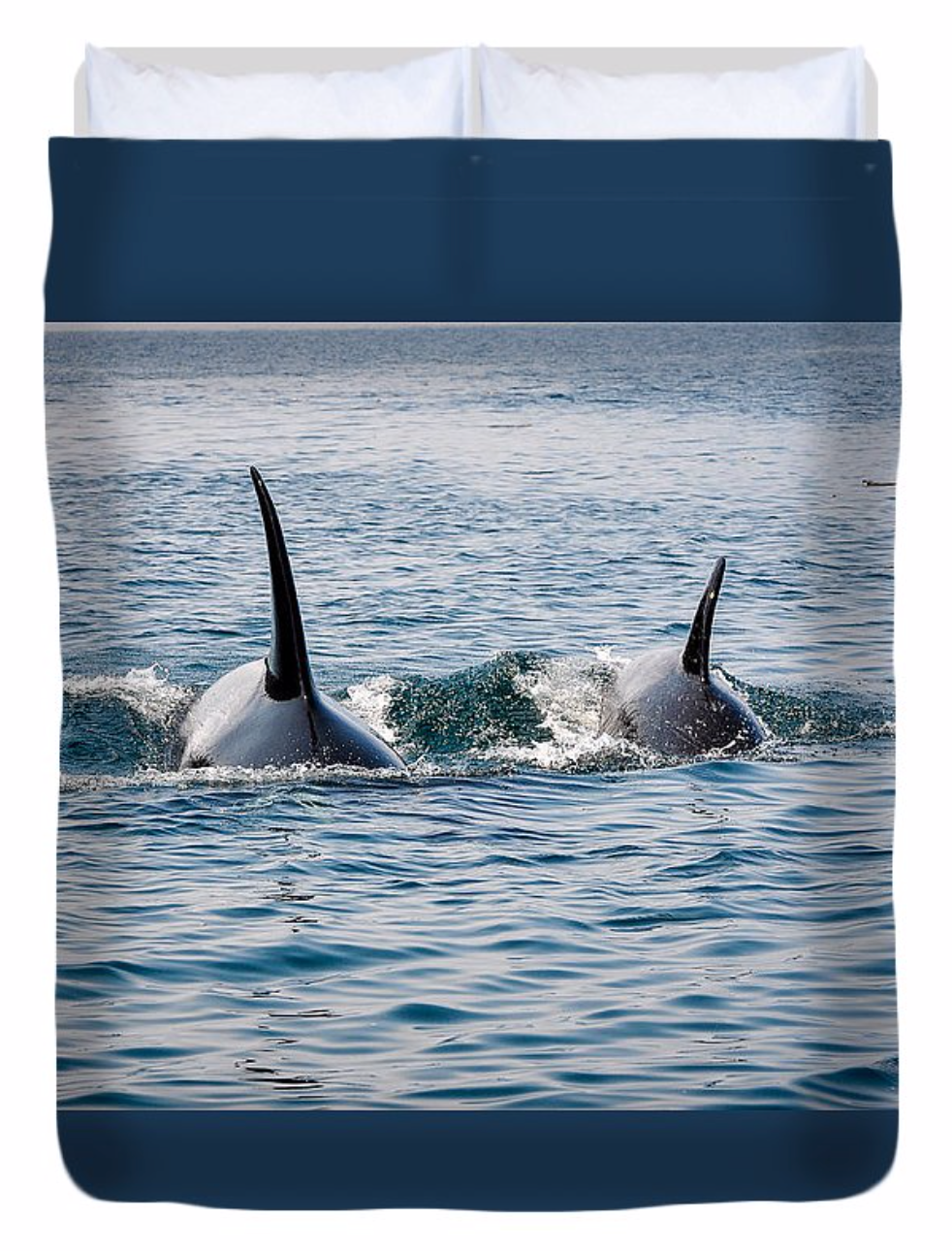 Orca By My Side Duvet Cover