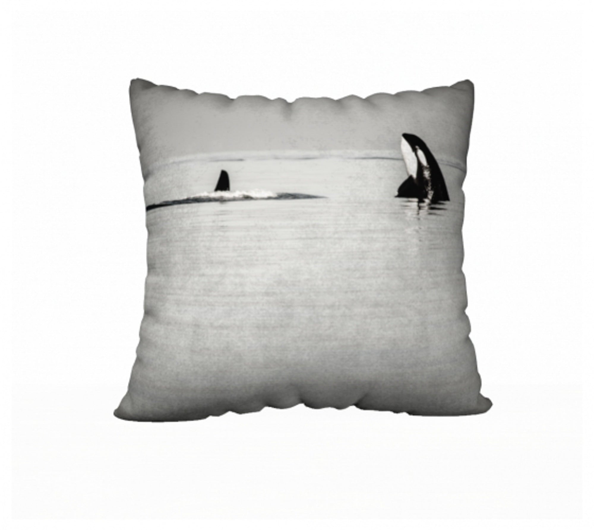 "Orca Spy Hop 22"" x 22"" Pillow Case"