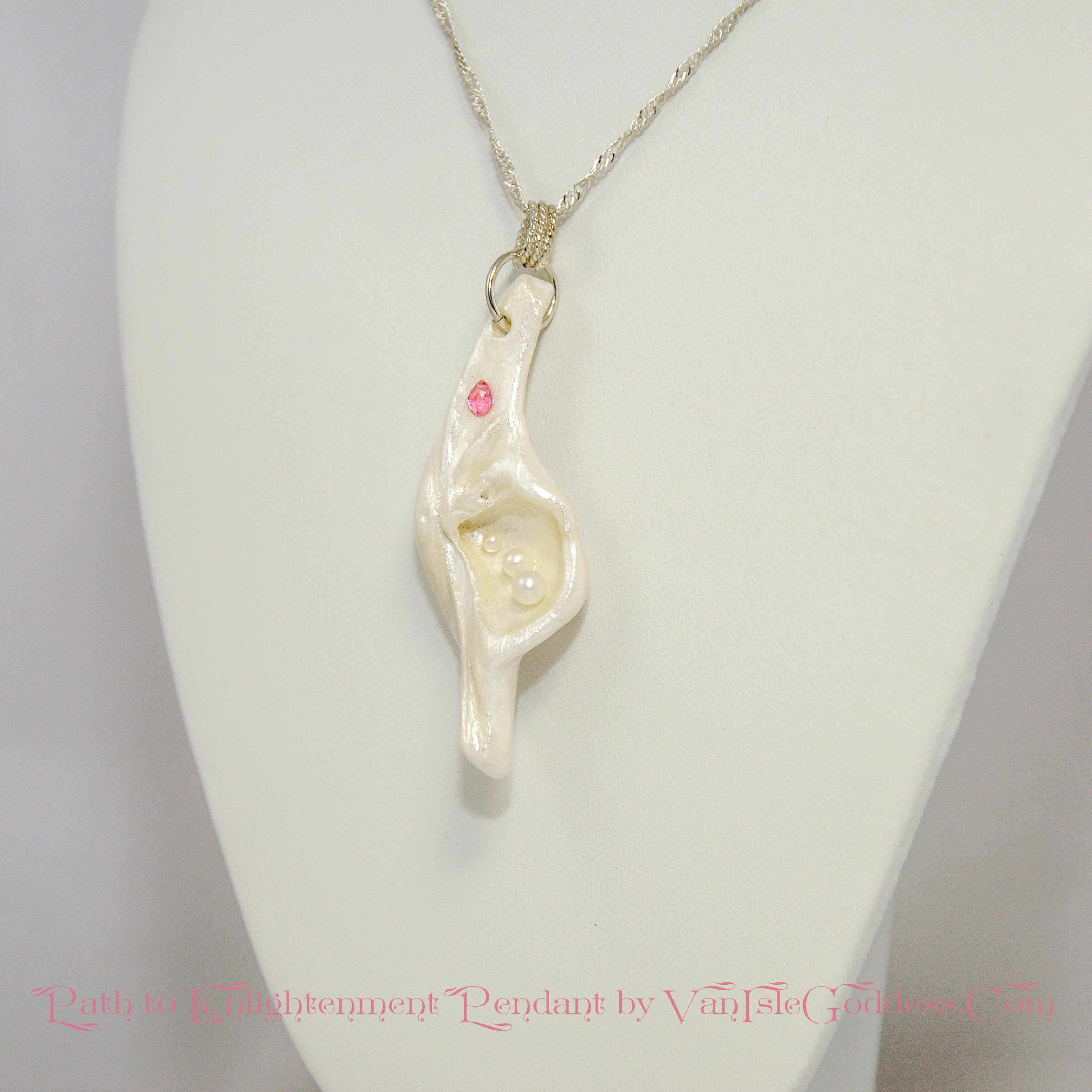 Path to Enlightenment Island Goddess Seashell Pendant