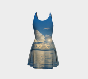 Qualicum Beach Flare Dress Back
