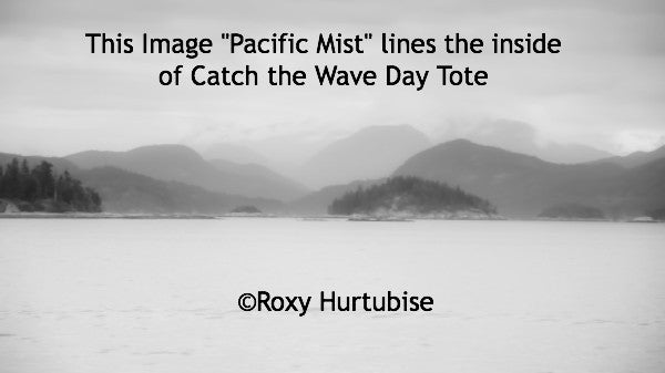 The image Pacific Mist lines the inside of Catch The Wave Day Tote by Roxy Hurtubise