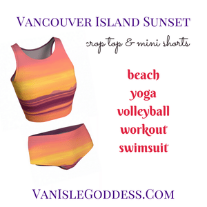 Vancouver Island Sunset Van Isle Goddess Mini Shorts