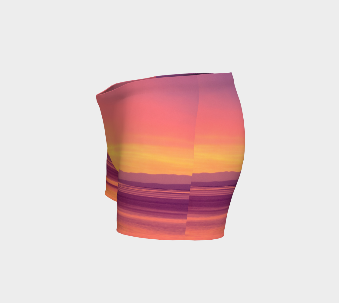 Vancouver Island Sunset Shorts by Roxy Hurtubise left side