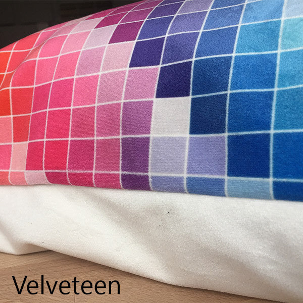 Velveteen fabric selection