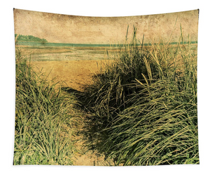 Vintage Beach Wall Tapestry