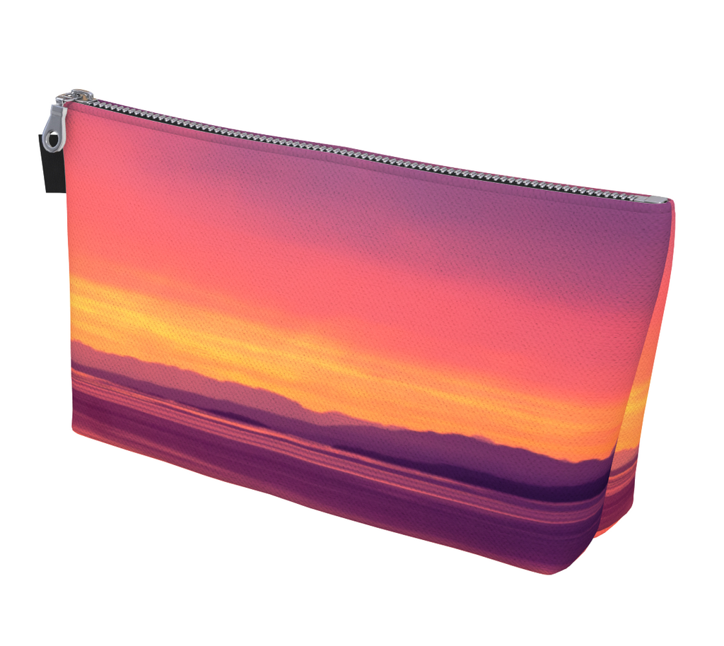 Vancouver Island Sunset Makeup Bag by Vanislegoddess.com available in 2 sizes.