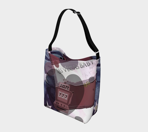 Viva Las Vegas Day Tote Everyday Day Tote for Everything!  Van Isle Goddess ultimate tote bag!   Adjustable strap for comfort, the tote is made from soft and supple neoprene that stretches to fit whatever you can put in it!