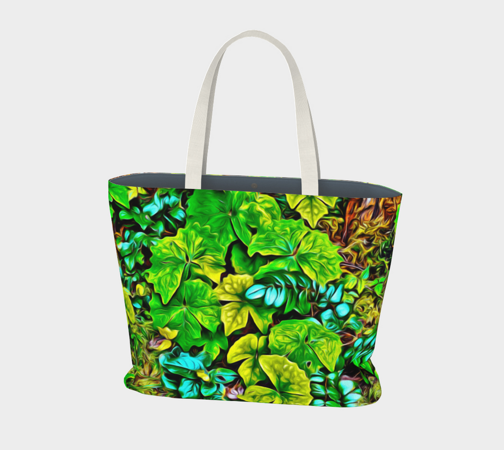 Van Isle Goddess Forest Floor Cathedral Grove oversized Market Tote.