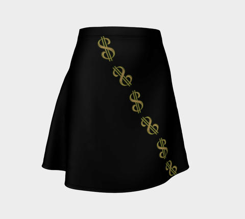 Vegas Dollars Las Vegas Flare Skirt  These flare skirts are great paired with your fave tee for a casual day, or if you're getting ready for a festival or concert, pair with a printed crop top! by VanIsleGoddess.Com