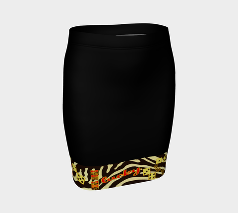 Lucky Las Vegas Fitted Skirt  Our vibrant, body hugging fitted skirts can be paired with a tunic top for the office, or dressed up for a night out! by vanislegoddess.com