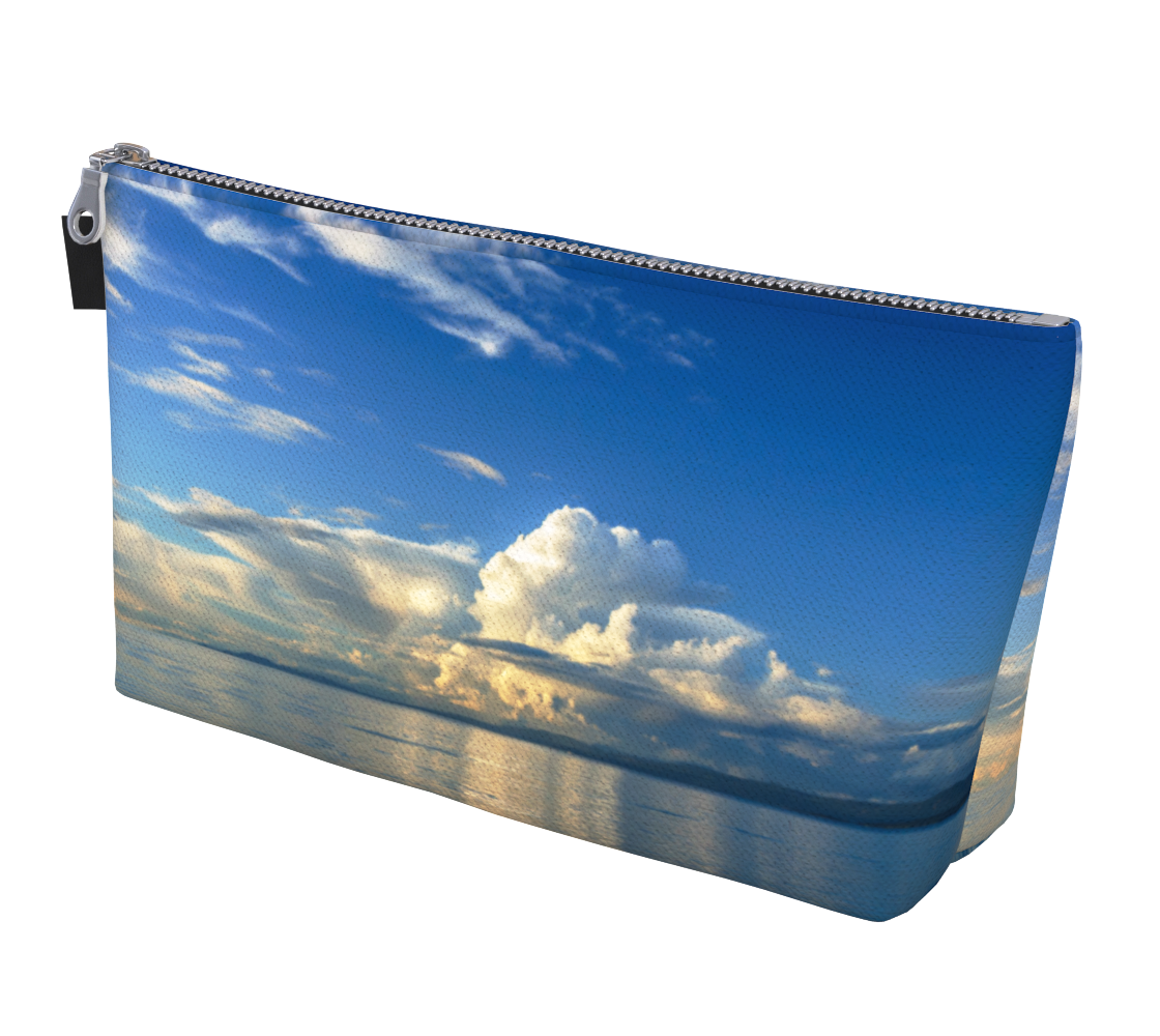 Qualicum Beach Makeup Bag by Vanislegoddess.com is available in 2 sizes.