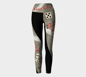"The Strip Las Vegas Yoga Leggings Take the high road to Las Vegas in my ""The Strip"" design.  Look absolutely fabulous! Roll the dice, place your chips, it's showtime and your the star!  Great travel wear. By Van Isle Goddess"
