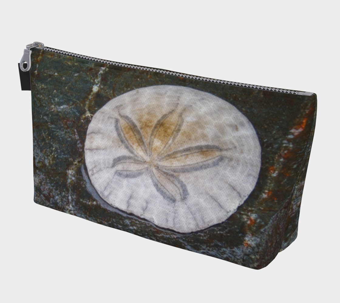 Came to Be Here Sand Dollar Makeup Travel Bag