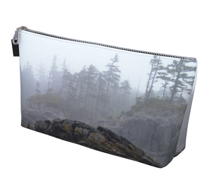 West Coast Ocean Fog Makeup Bag by Vanislegoddess.com available in 2 sizes.