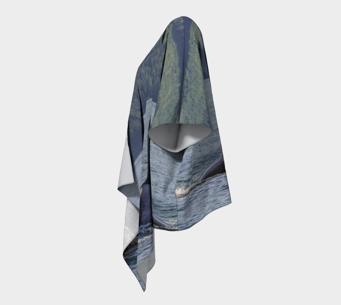 Orca So Close Draped Kimono