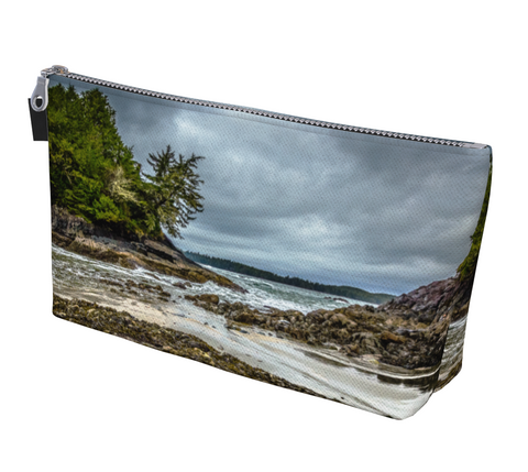 McKenzie Beach Tofino Makeup Bag by  Vanislegoddess.com is available in 2 sizes.