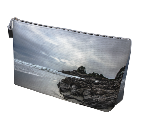 Cox Bay Beach Afternoon in Tofino Makeup Bag by Van Isle Goddess Vancouver Island available in 2 sizes.