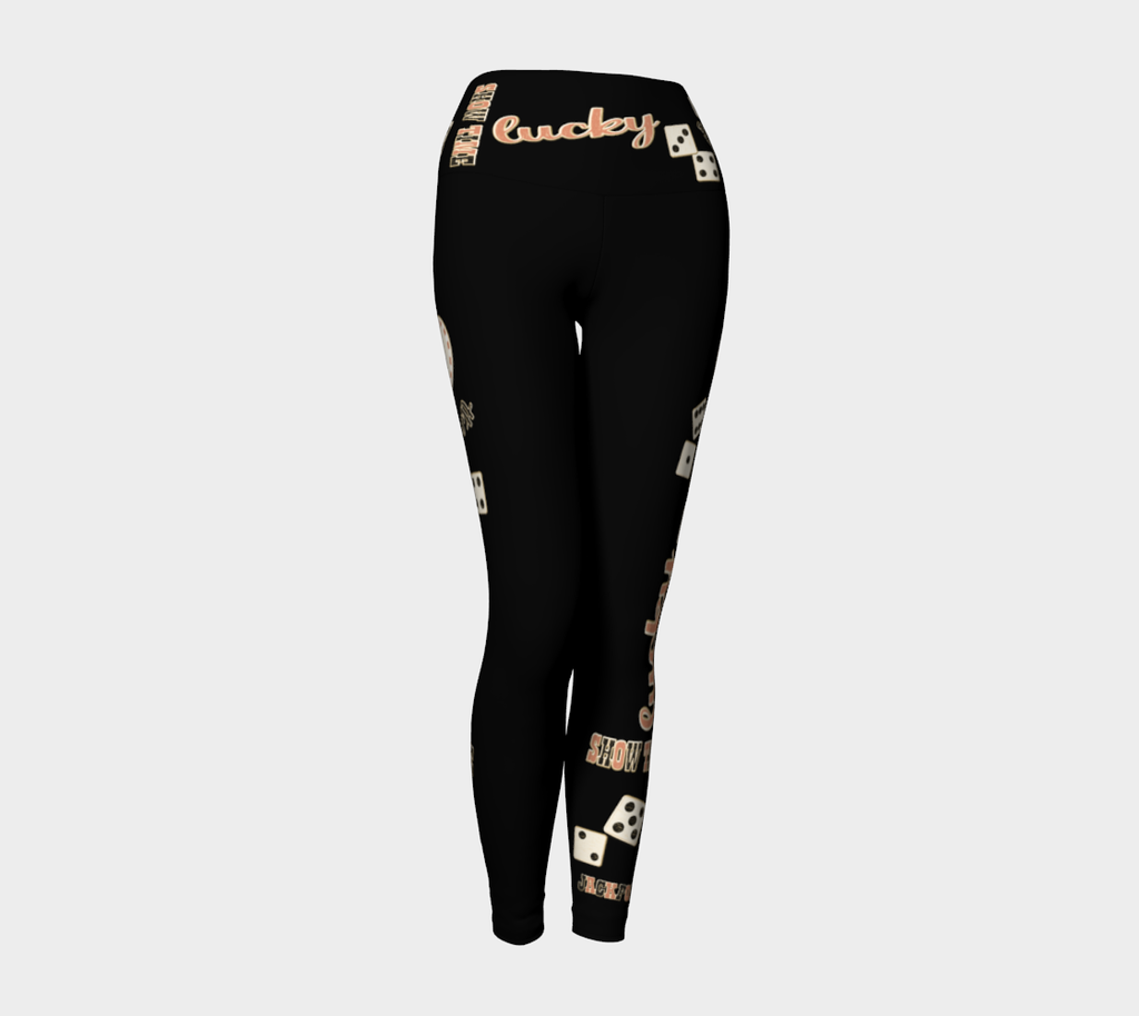 Showtime! Las Vegas Yoga Leggings Party all night long in my Showtime! Las Vegas design!  Look absolutely fabulous! Roll the dice, place your chips, it's showtime and your the star!  Great travel wear.  By Van Isle Goddess