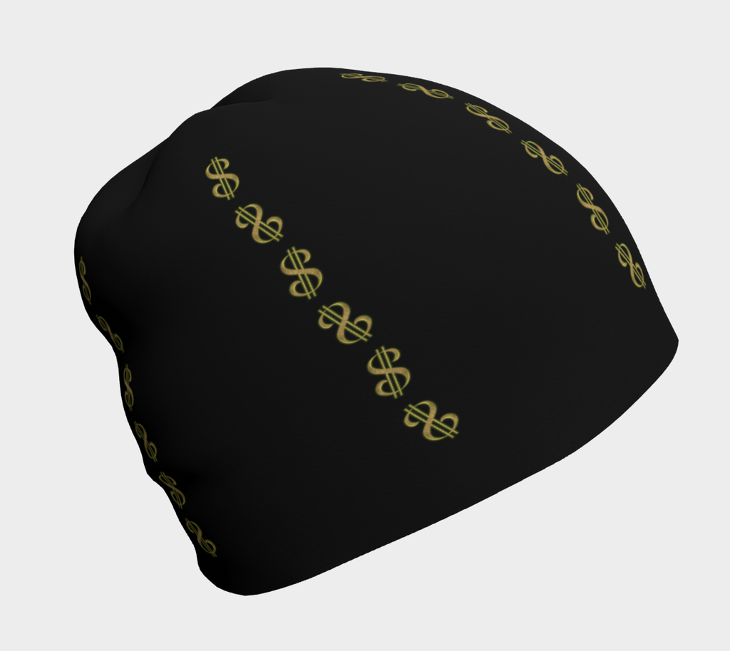 Top off your outfit with our unique printed Vegas Dollar Las artwork beanie hats.  By VanIsleGoddess.com