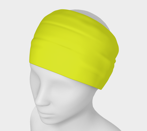 Canopy of Leaves Yellow Solid Colour Headband  Art meets the most versatile of fashion accessories. The headband.    You can wear it in so many different ways: a pony tail holder, hood, face mask, hat liner, wrist band, sun protector.   So easy to wear. Perfect for working out, staying warm, hiking, or as a pop of colour to add to any look.  Compact enough to fit in your pocket, purse, or back pack.  Makes a great gift idea too! By VanIsleGoddess.Com