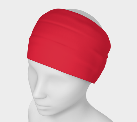 Activated Red Solid Colour Headband  Art meets the most versatile of fashion accessories. The headband.    You can wear it in so many different ways: a pony tail holder, hood, face mask, hat liner, wrist band, sun protector.   So easy to wear. Perfect for working out, staying warm, hiking, or as a pop of colour to add to any look.  Compact enough to fit in your pocket, purse, or back pack.  Makes a great gift idea too! by VanIsleGoddess.com